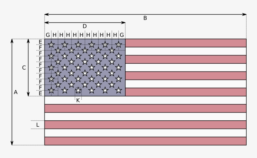El Diseño Básico De La Bandera Actual Se Especifica - Us Flag How Many Stars, transparent png #1240217