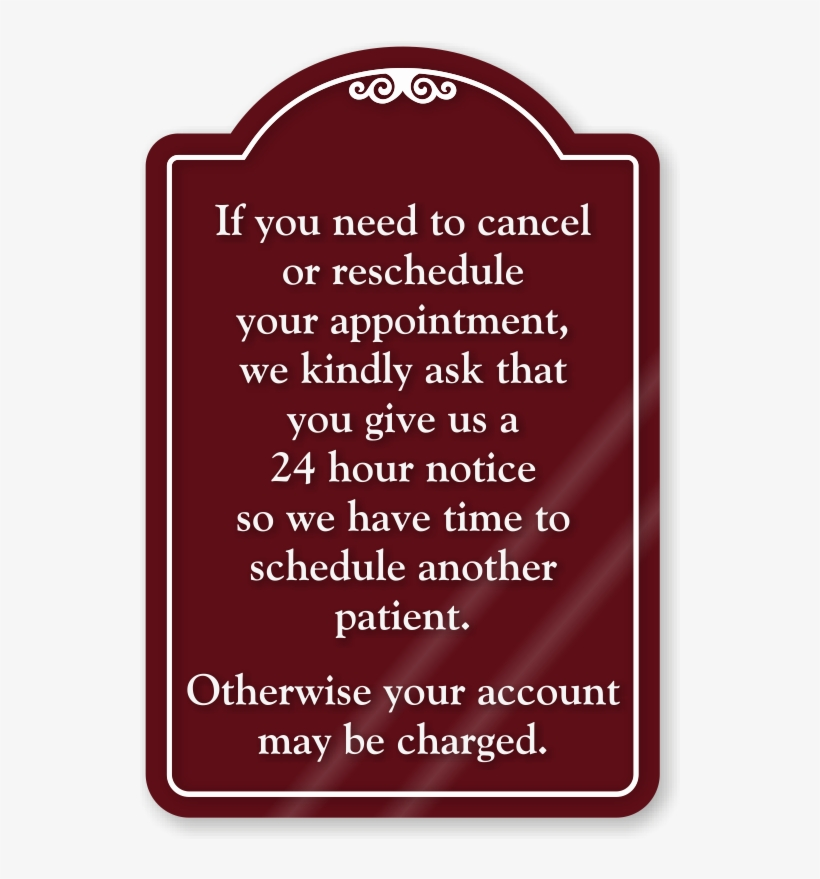 Cancel Or Reschedule Appointment Showcase Sign - Please Use Hand Sanitizer, transparent png #1242317