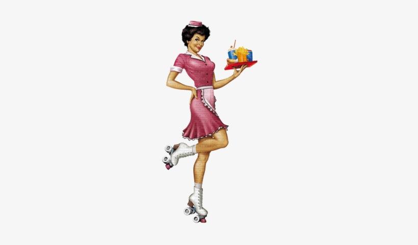 Hop Girl - Waitress Pin Up, transparent png #1242854