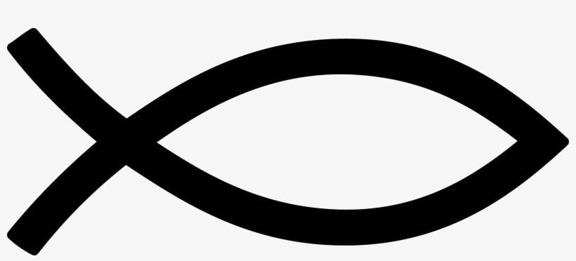 Black Christian Fish Symbol - Ichthys, transparent png #1244371