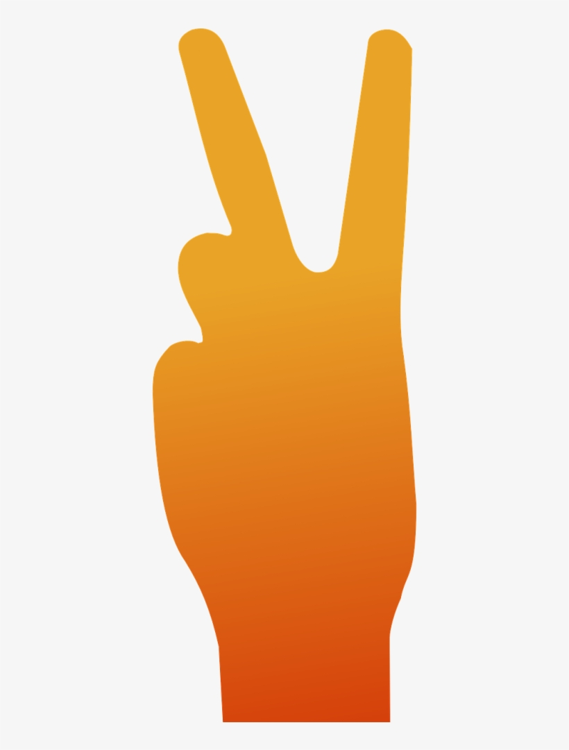 Hand Sign Peace Orange, transparent png #1245680