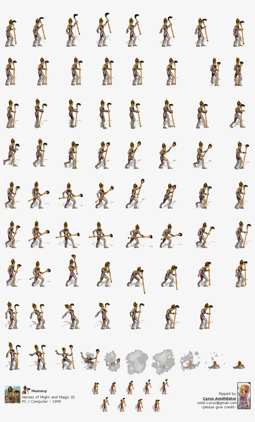 Mummy - Heroes Of Might And Magic 3 Mummy, transparent png #1245909