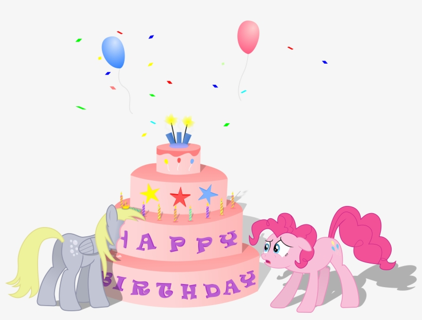Derpy Hooves Pinkie Pie Birthday Cake Decorating