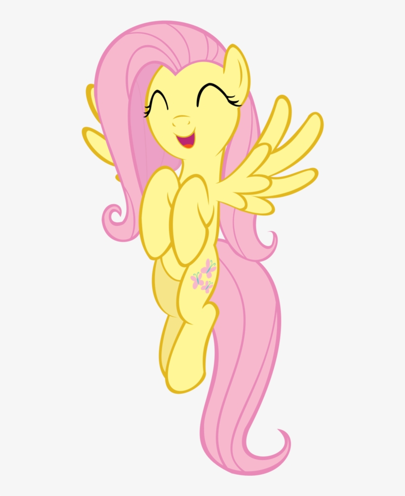 My Little Pony Clipart White Background My Little Pony Fluttershy Flying Free Transparent Png Download Pngkey
