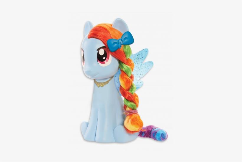 My Little Pony Rainbow Dash Style Pony - My Little Pony Rainbow Dash Styling Head, transparent png #1247004