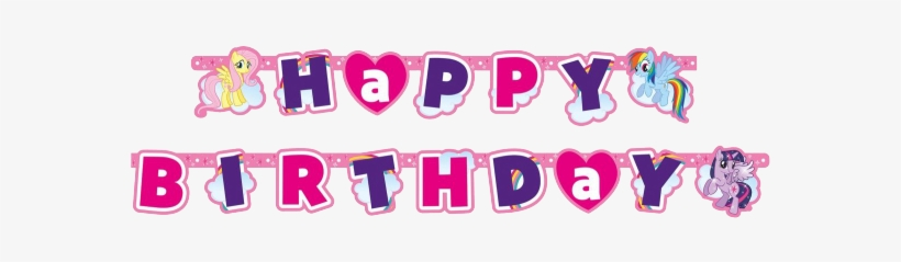Little Pony Happy Birthday Text, transparent png #1247008