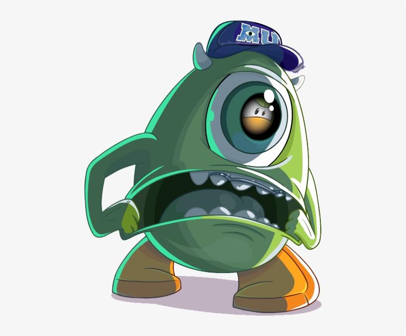 Club Mike Wazowski - Monsters Inc Club Penguin, transparent png #1247797