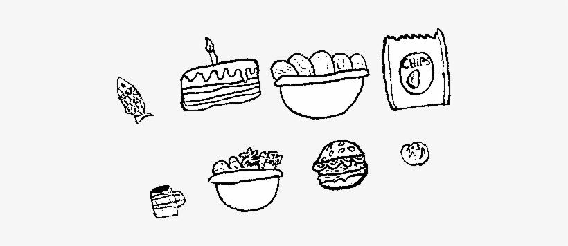 Dibujo De Comida Para Colorear - Desenhos De Comida Em Ingles, transparent png #1249123