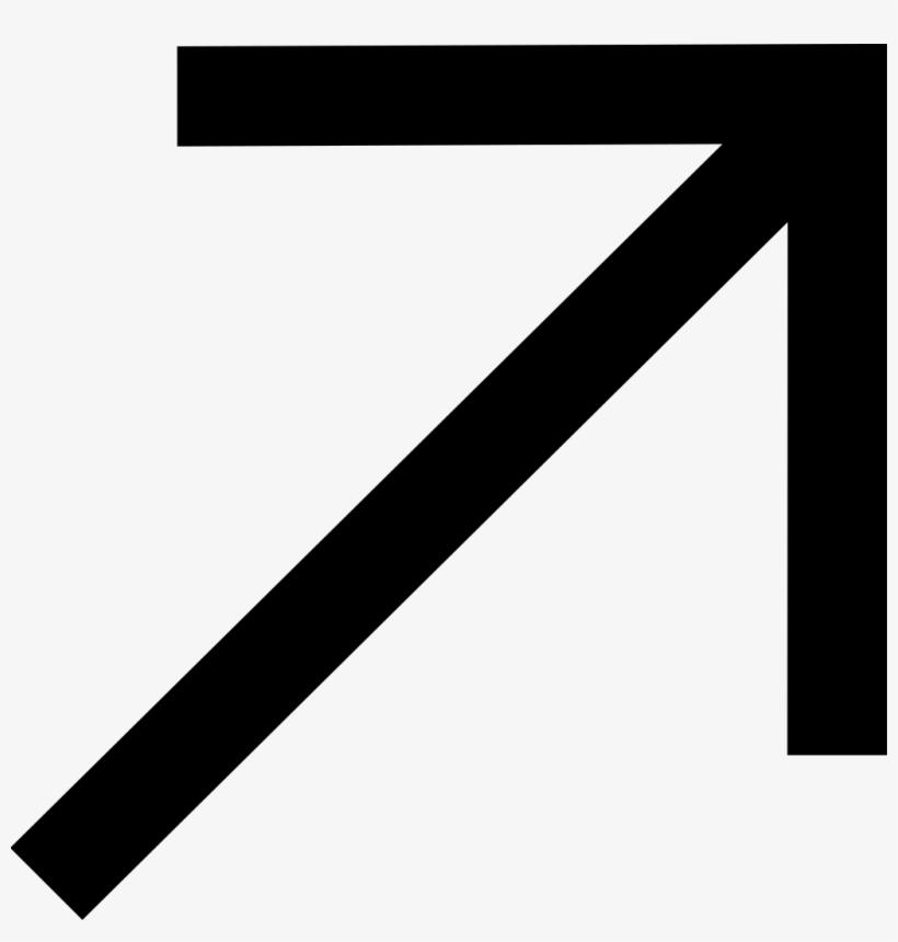Arrow-move - Flecha Inclinada Hacia Arriba, transparent png #1249297