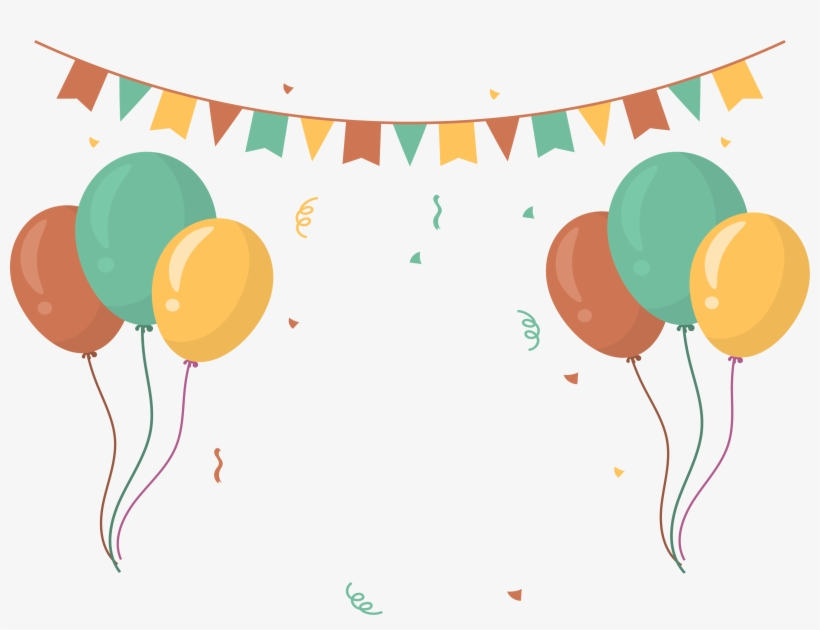 Party Clipart Party Banner - Balloon Banner, transparent png #1250052