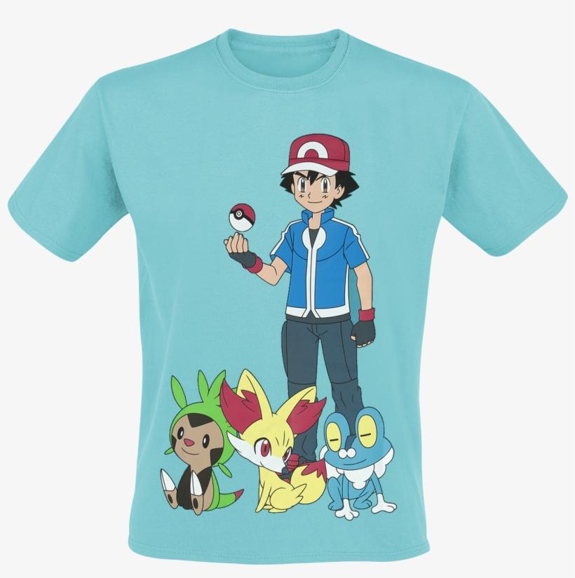 Pokemon - Ash Ketchum - T-shirt - Turquoise - Mens Aqua Pokemon T-shirt, transparent png #1251310