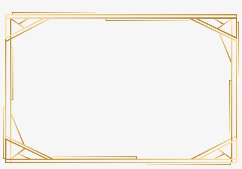 Vector Rectangle Frames Gold Square Frame Png