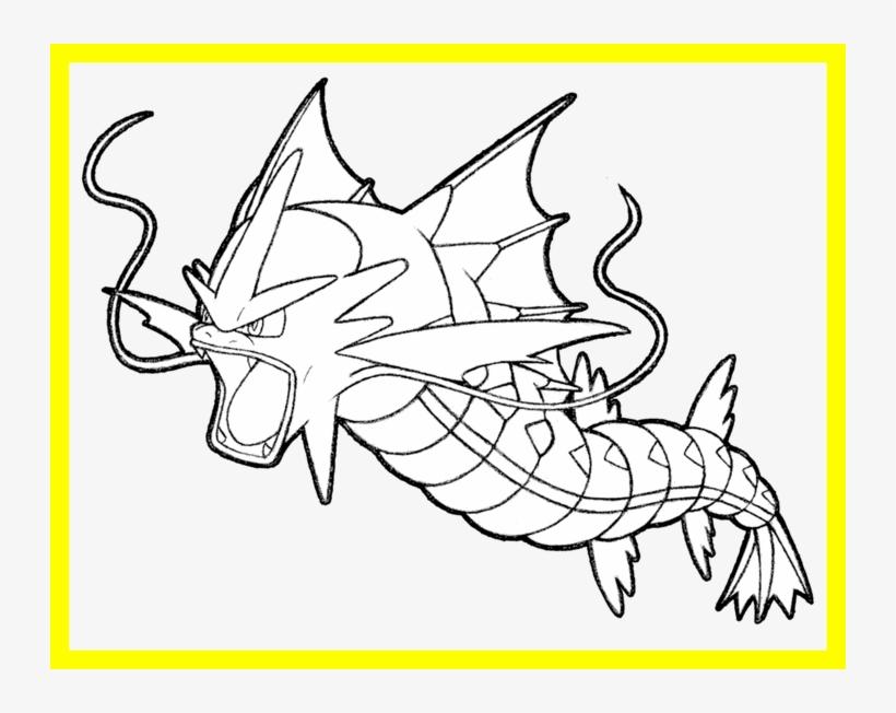 Pokemon Coloring Gyarados - Hd Football