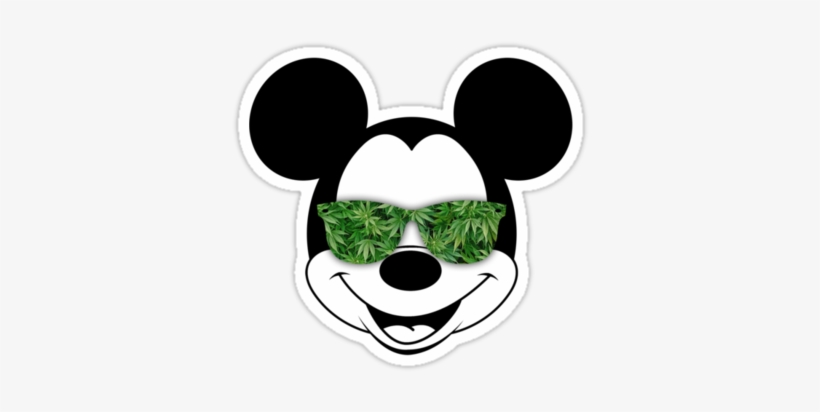 Stoner Humor Weed Stickers Hippie Trippy Mickey Mickey Sunglasses Free Transparent Png Download Pngkey