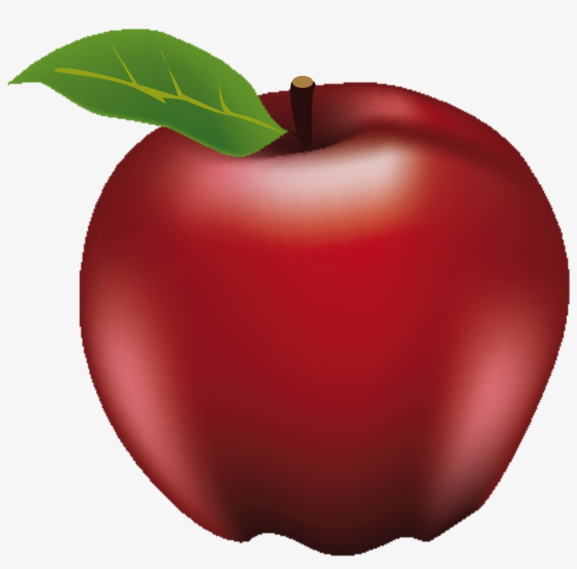 "Open - Red Apple #2 Red Apple #2 Square Sticker 3"" X 3"", transparent png #1252526"
