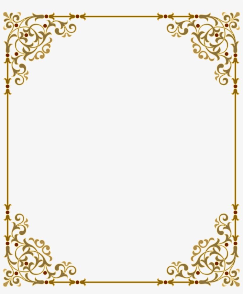 Download Gold Frame Png Clipart Clip Art Gold Text - Border Frame Png Transparent, transparent png #1253120