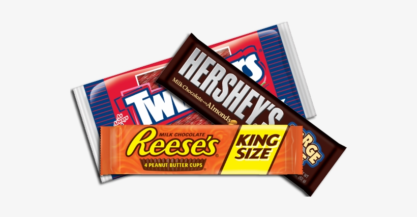 Transparent Bars Candy - Reese's Milk Chocolate Peanut Butter Cups (king Size), transparent png #1254315