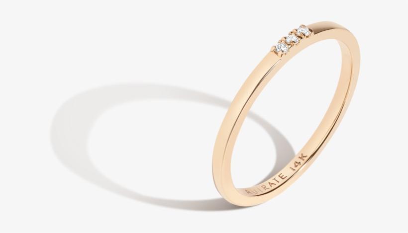 Diamond Stacker Ring 14k Gold - Engagement Ring, transparent png #1259381