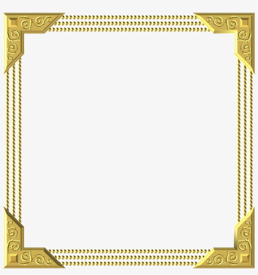 Frame Royal Gold Square Embellishment - Borderline Certificate Design Border, transparent png #1261222