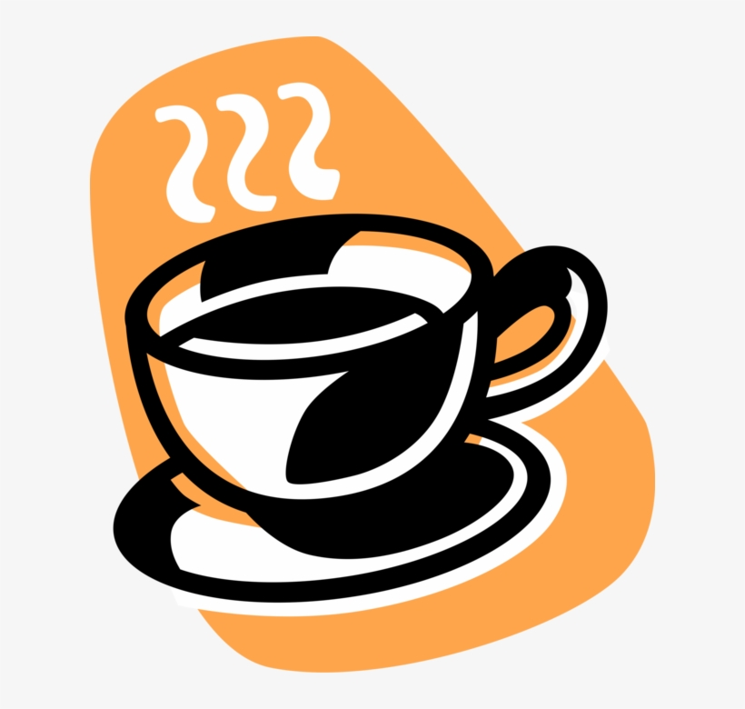 Vector Illustration Of Cup Of Hot Freshly Brewed Coffee - Brewed Coffee, transparent png #1263646