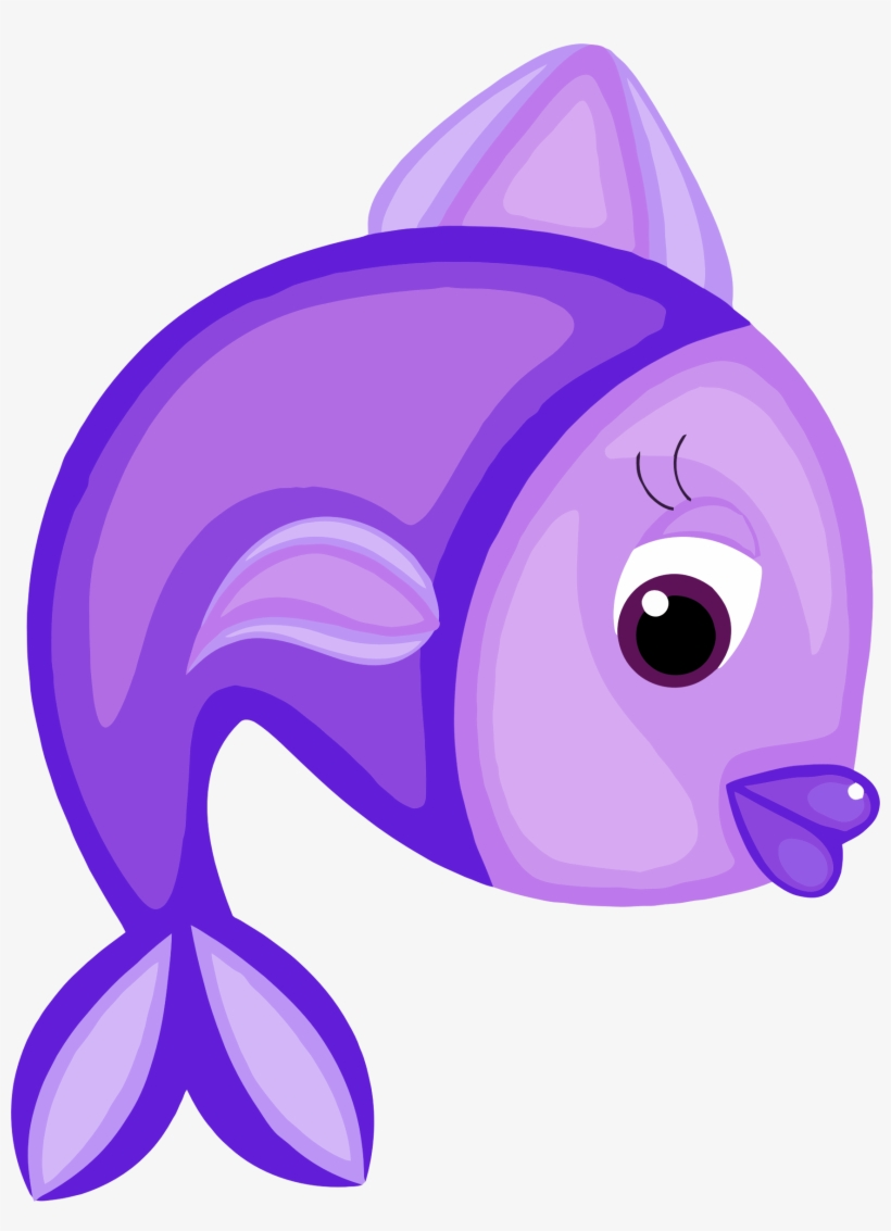 Download Blue Fish Svg Black And White Stock Purple Fish Cartoon Png Free Transparent Png Download Pngkey