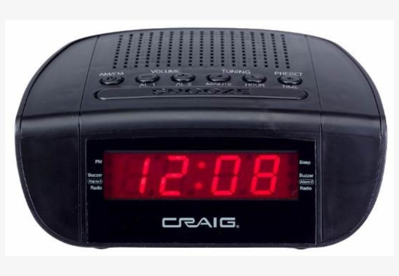 Digital Alarm Clock Png Clip Art Download - Craig Cr45329b