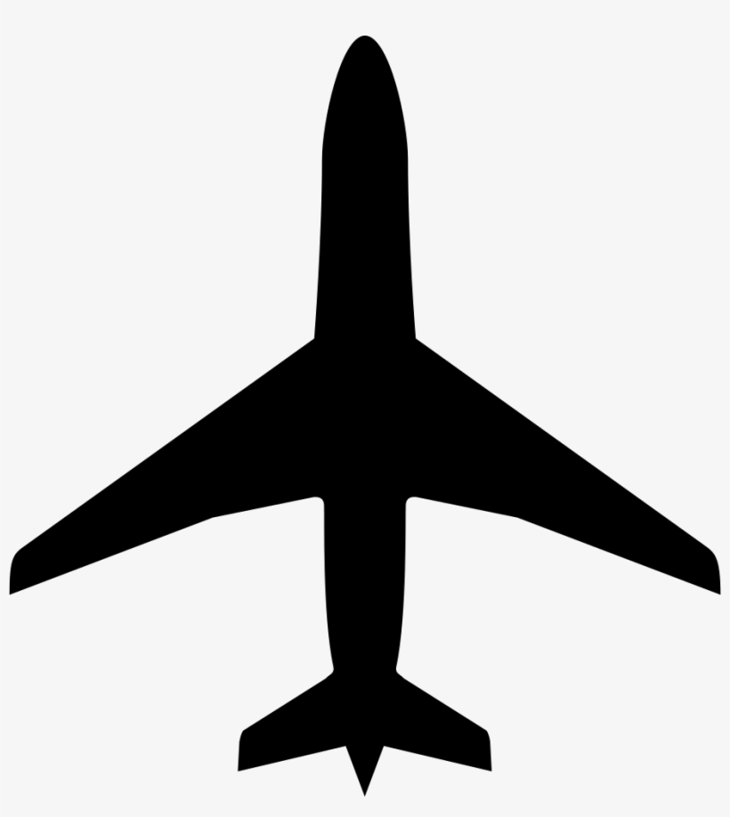 white airplane silhouette png