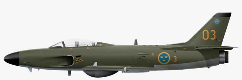 Saab J32e Lansen 32620 Saab J32e Lansen - Fighter Plane Side View, transparent png #1268773