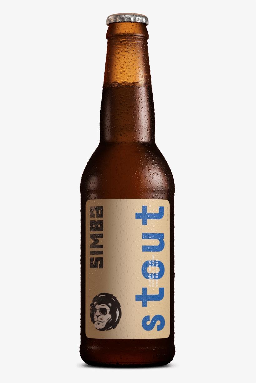Stout On Black Bg - Simba Stout Beer, transparent png #1270543