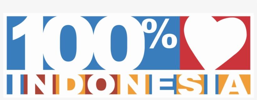 100% Cinta Indonesia Logo - Logo 100 Indonesia Png, transparent png #1271452