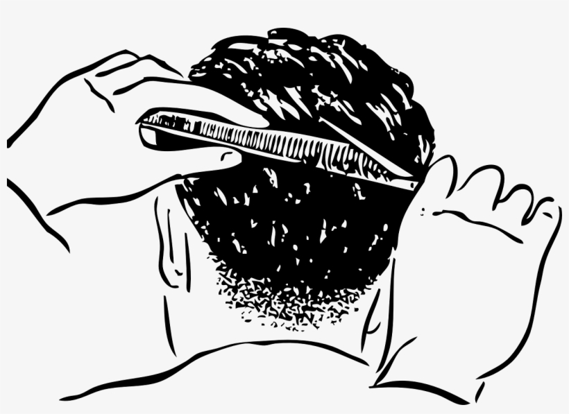 Comb Hair Clipper Hairstyle Hair-cutting Shears Hairdresser - Hair Cutting Clip Art, transparent png #1271690
