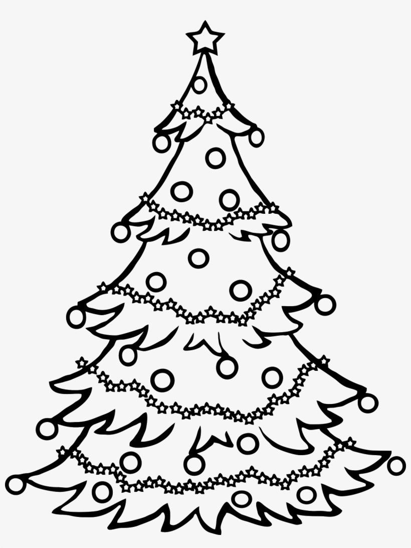 Christmas Tree Drawing {png} - Christmas Tree For Drawing, transparent png #1272747