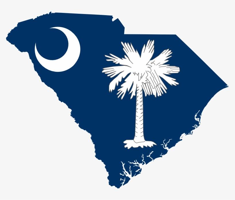 Flag Map Of South Carolina Scallywag Flag Svg Flagartist - South Carolina Transparent, transparent png #1272890