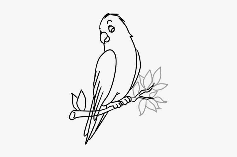 Drawn Brds Tree Drawing - Bird In A Tree Drawing, transparent png #1273001