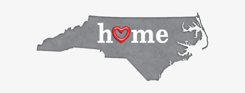 Click And Drag To Re-position The Image, If Desired - State Map Outline North Carolina With Heart, transparent png #1273178