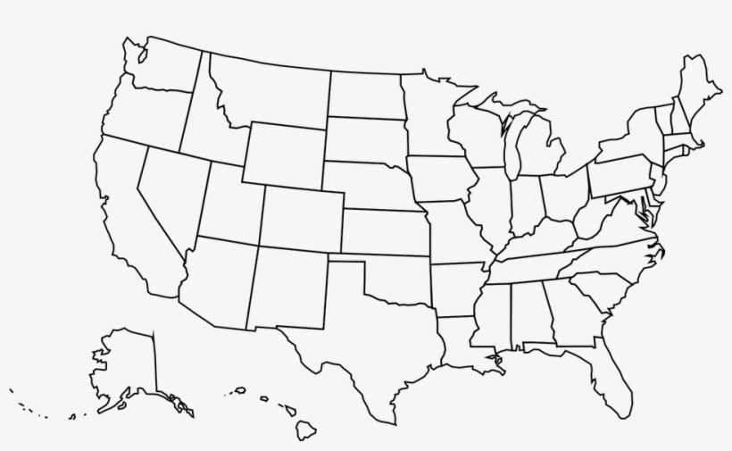 United States Map Outline Vector - Silhouette Usa Map Outline - Free ...