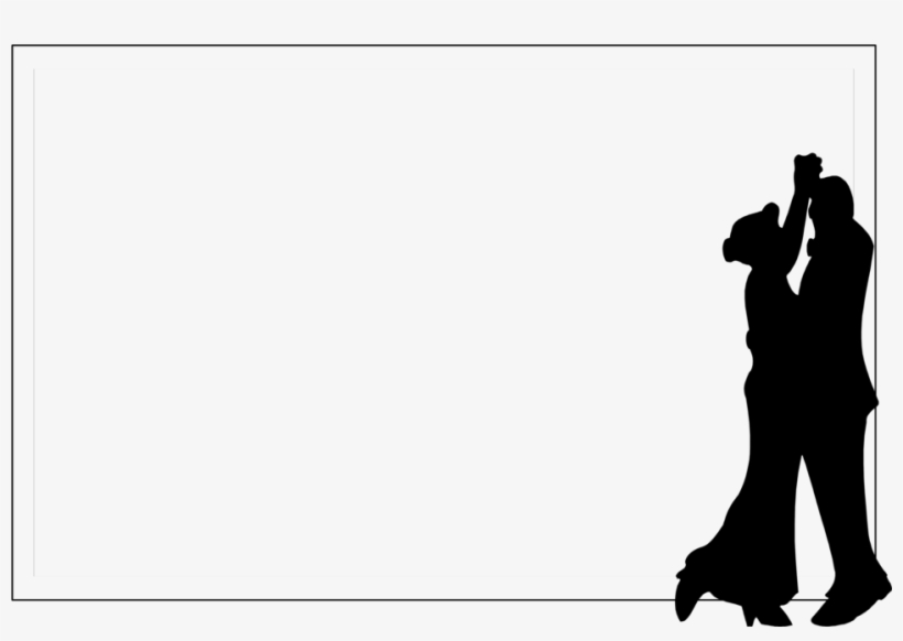 Dance Clipart Black And White Silhouette - 50th Wedding Anniversary Sticker (oval), transparent png #1273458