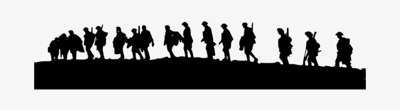 Military Army Soldiers Walking Armed Unifo - World War 1, transparent png #1273548