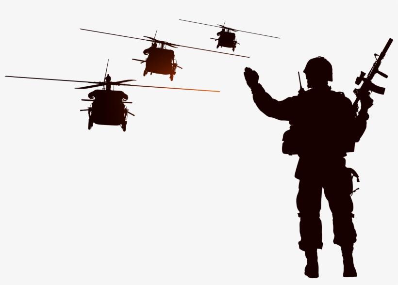 Svg Royalty Free Download Soldier Helicopter Illustration - ภาพ พื้น