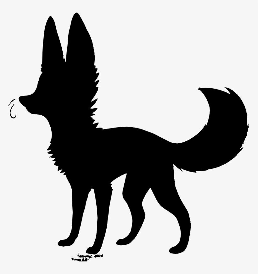 Fox Silhouette Png - Black Animal Jam Fox, transparent png #1273620