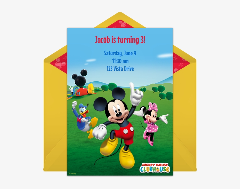 Mickey Mouse Clubhouse Online Invitation - Mickey Mouse Club House, transparent png #1274163