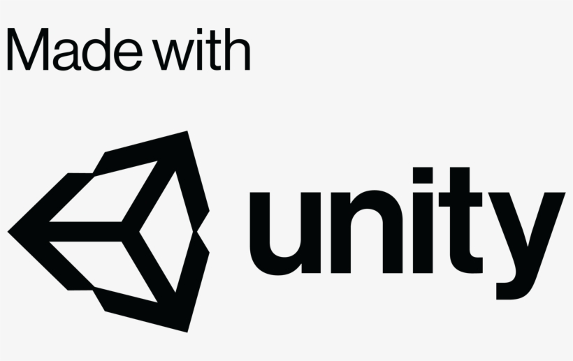 Unity Logo White Png Black And White Stock - Unity 3d - Free