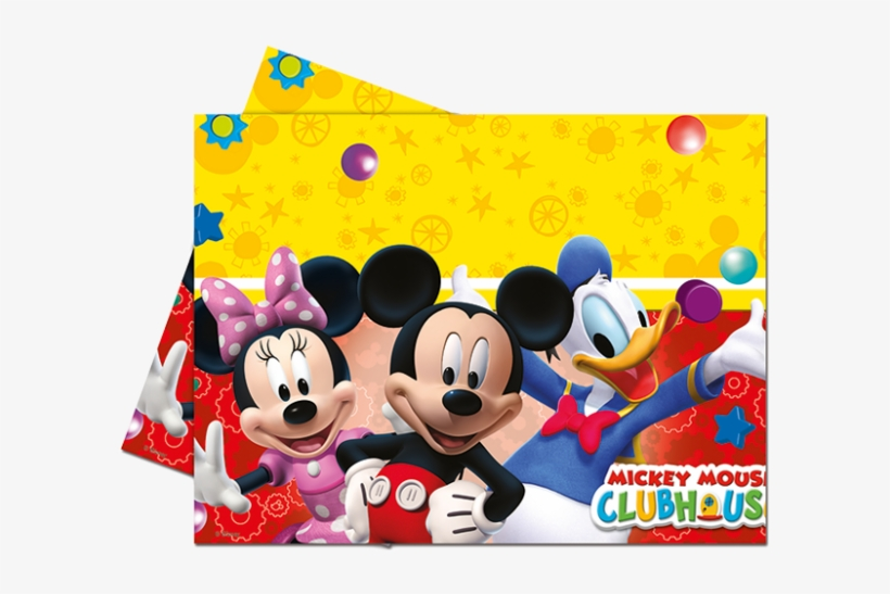 Mickey Mouse Clubhouse Plastic Tablecover - Mickey Mouse Clubhouse Table Cloths, transparent png #1275120