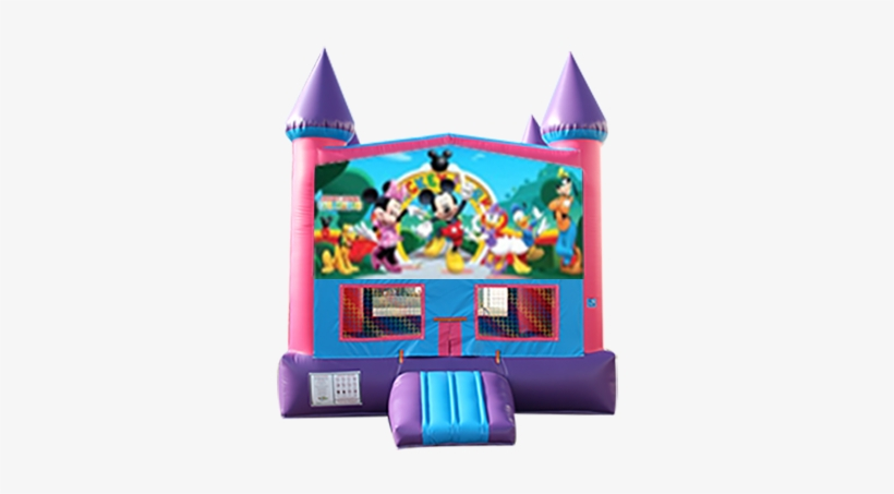 Mickey Mouse Clubhouse Pink And Purple Castle Moonwalk - Barbie Wallpapers For Desktop, transparent png #1275379
