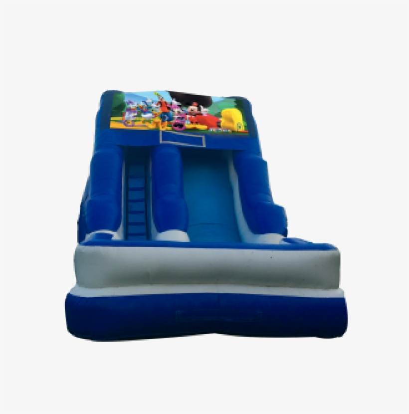 Mickey Mouse Clubhouse 16'wet Or Dry Slide - Pj Masks Bounce House, transparent png #1275413