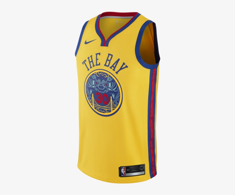 Nike Nba Connected Jersey Stephen Curry City Edition - Bay Jersey Golden State, transparent png #1276259