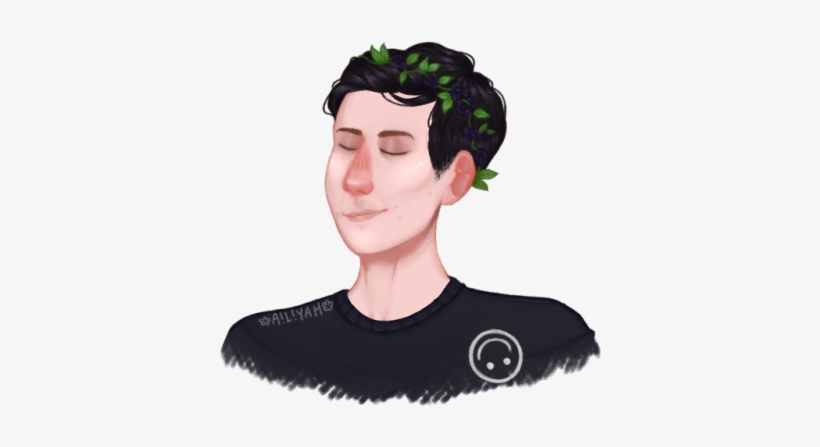 Phil Embracing The Quiff & Wearing A Flower Crown Is,,, - Phil Lester Quiff And Flower Crown, transparent png #1277050
