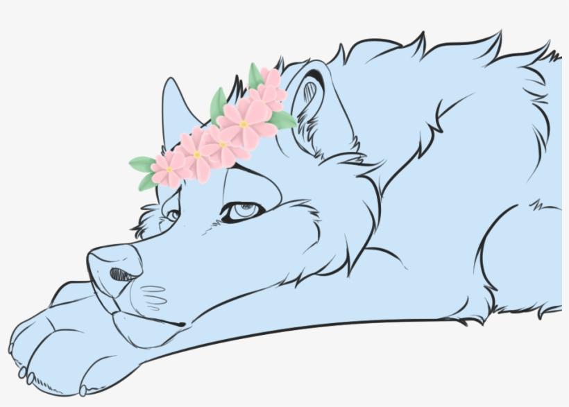 Flower Crown Ych - Illustration, transparent png #1277051