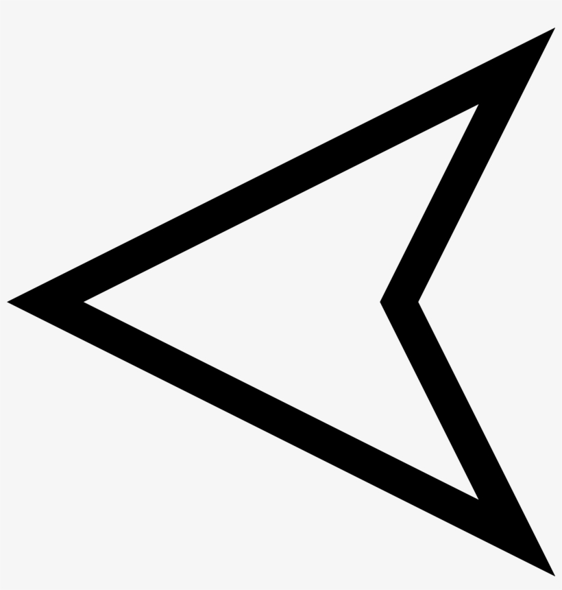 Arrow Triangle - Arrow Outline Png, transparent png #1277707