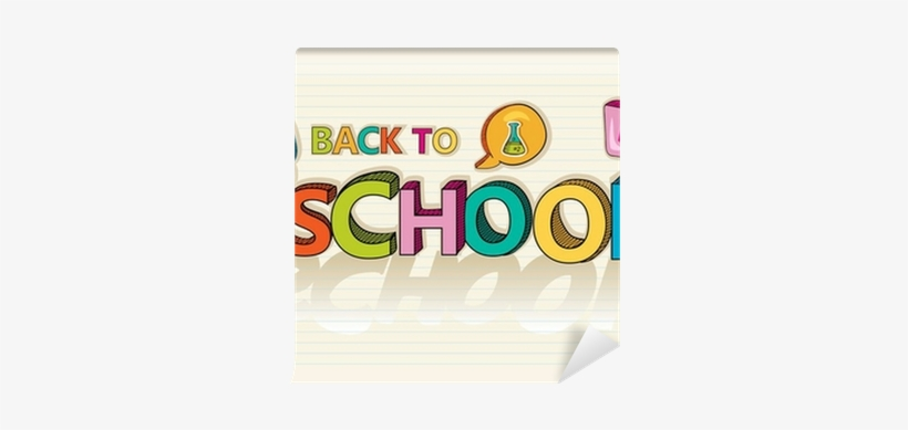 Back To School Social Colorful Education Icon Background - Back To School In Writing Cartoon, transparent png #1278454